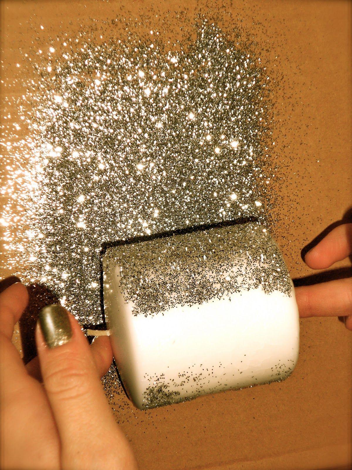 Glitter Candles Glitter Candles Glitter Diy Diy Glitter Candles