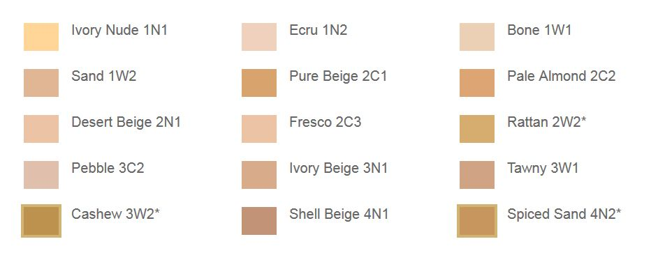 Estee lauder double wear foundation  colour chart  am in pebble  also rh pinterest
