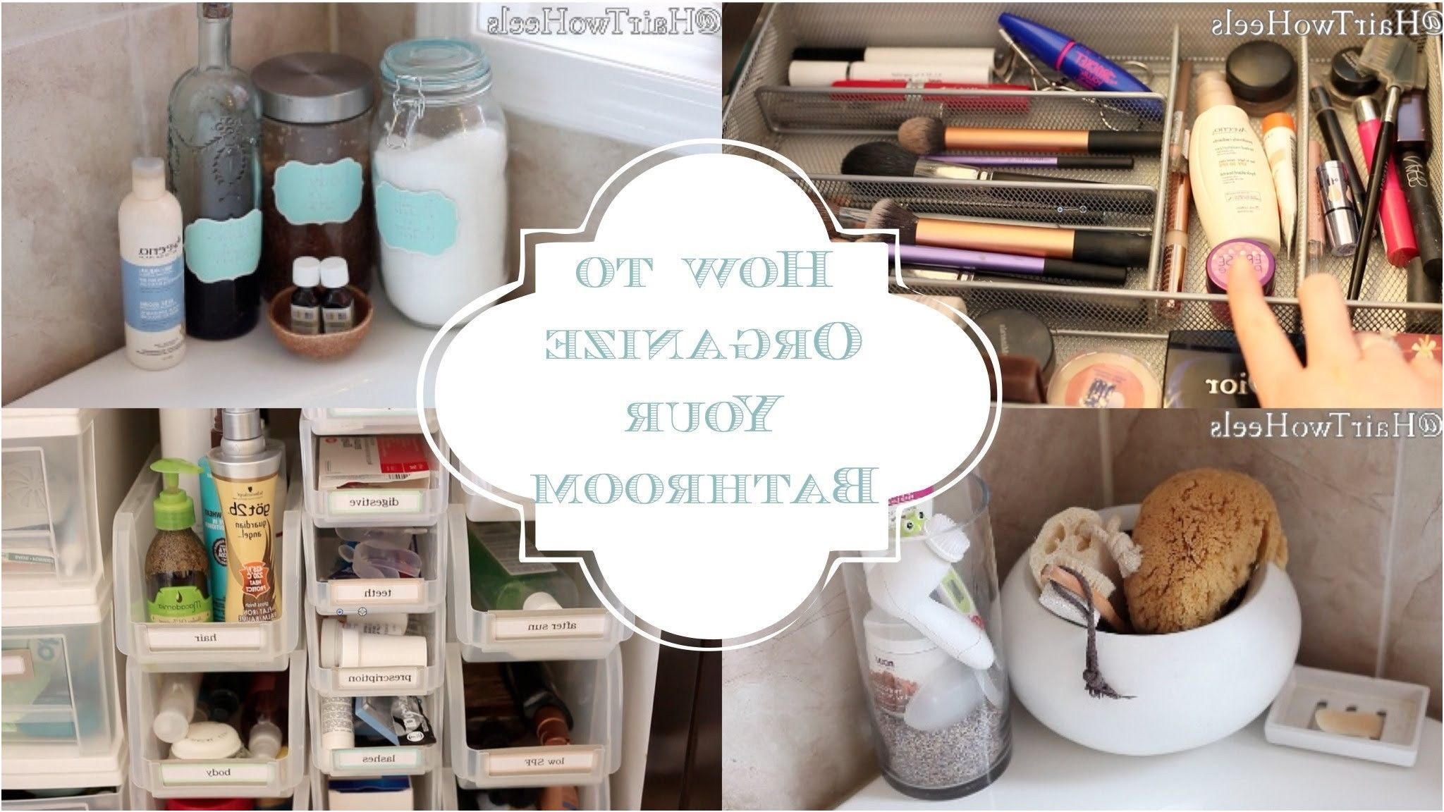 how to organize your bathroom â cabinets drawers shower caddy from ...