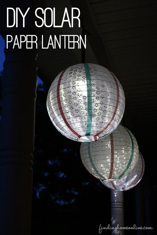 Diy Solar Paper Lantern
