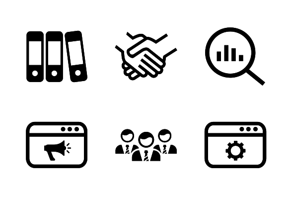 Marketing Icons By Aneeque Ahmed Marketing Icon Marketing Business Strategy