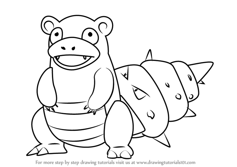 How To Draw Slowbro From Pokemon Go Drawingtutorials101 Com Pokemon Coloring Pages Pokemon Pokemon Drawings