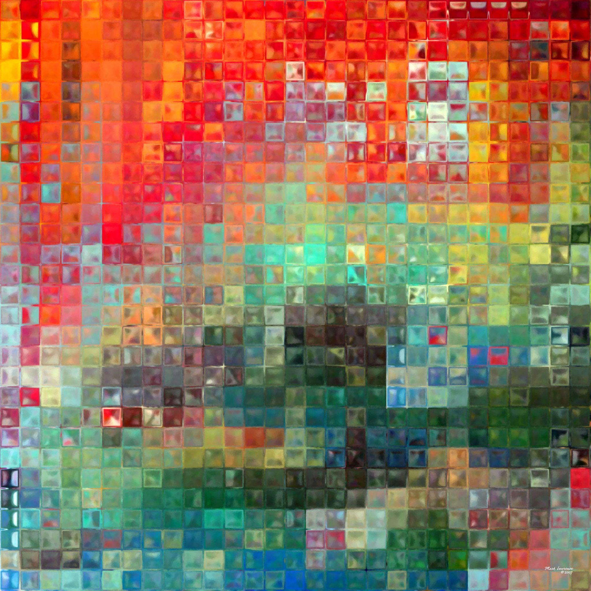 The Modern Tile Art Technique Is Similar To The Grid Technique