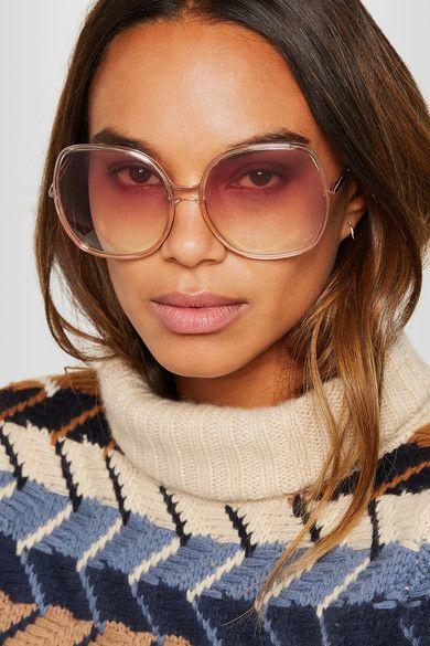 Nate Square-frame Acetate Sunglasses - Blush Chloé gK0Pu
