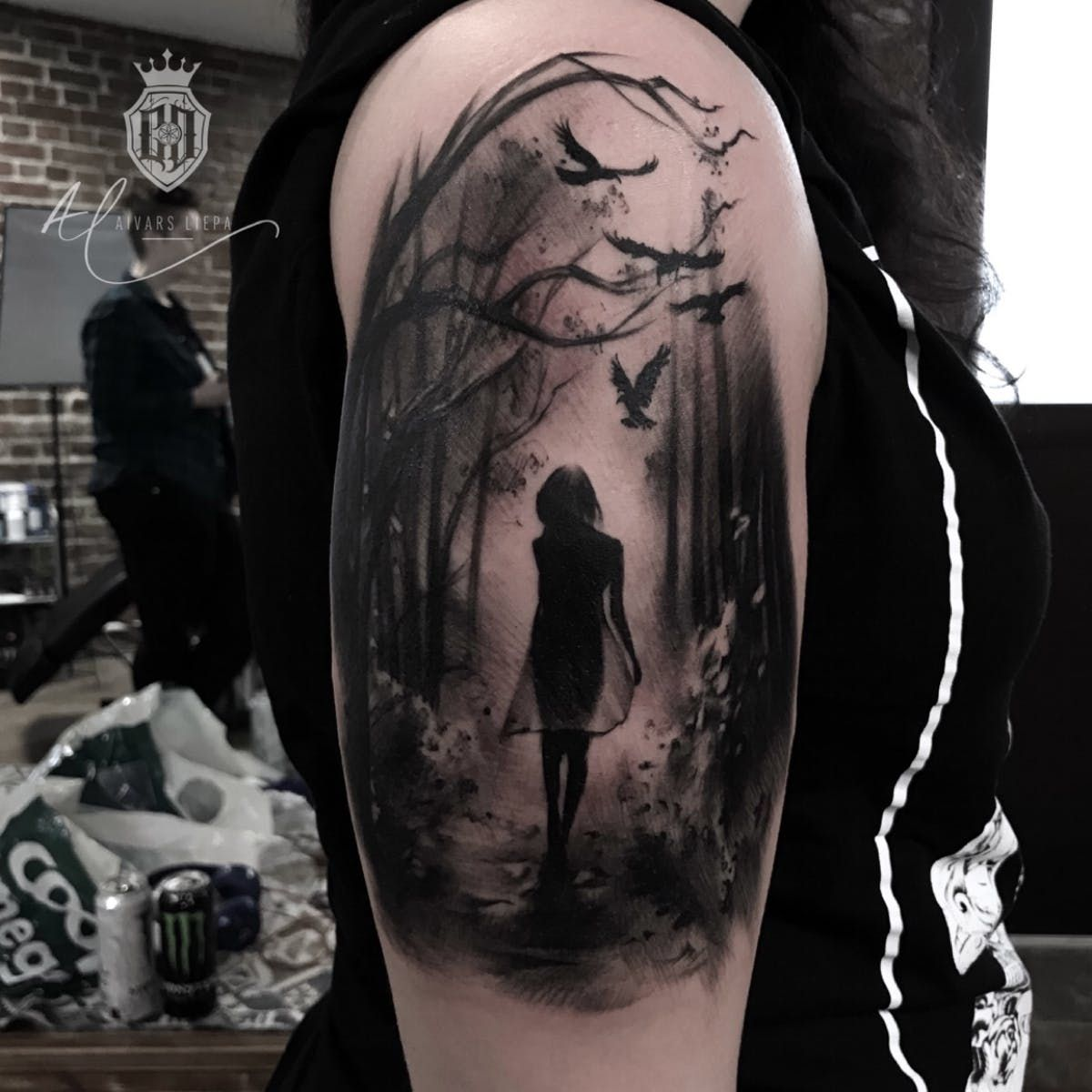 Girl In A Forest Forest Girl Oslo Norway Tattoos For Women Half Sleeve Tattoos Tattoos For Women