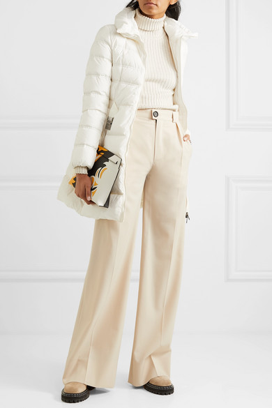 Moncler Belted quilted shell down jacket NETAPORTER