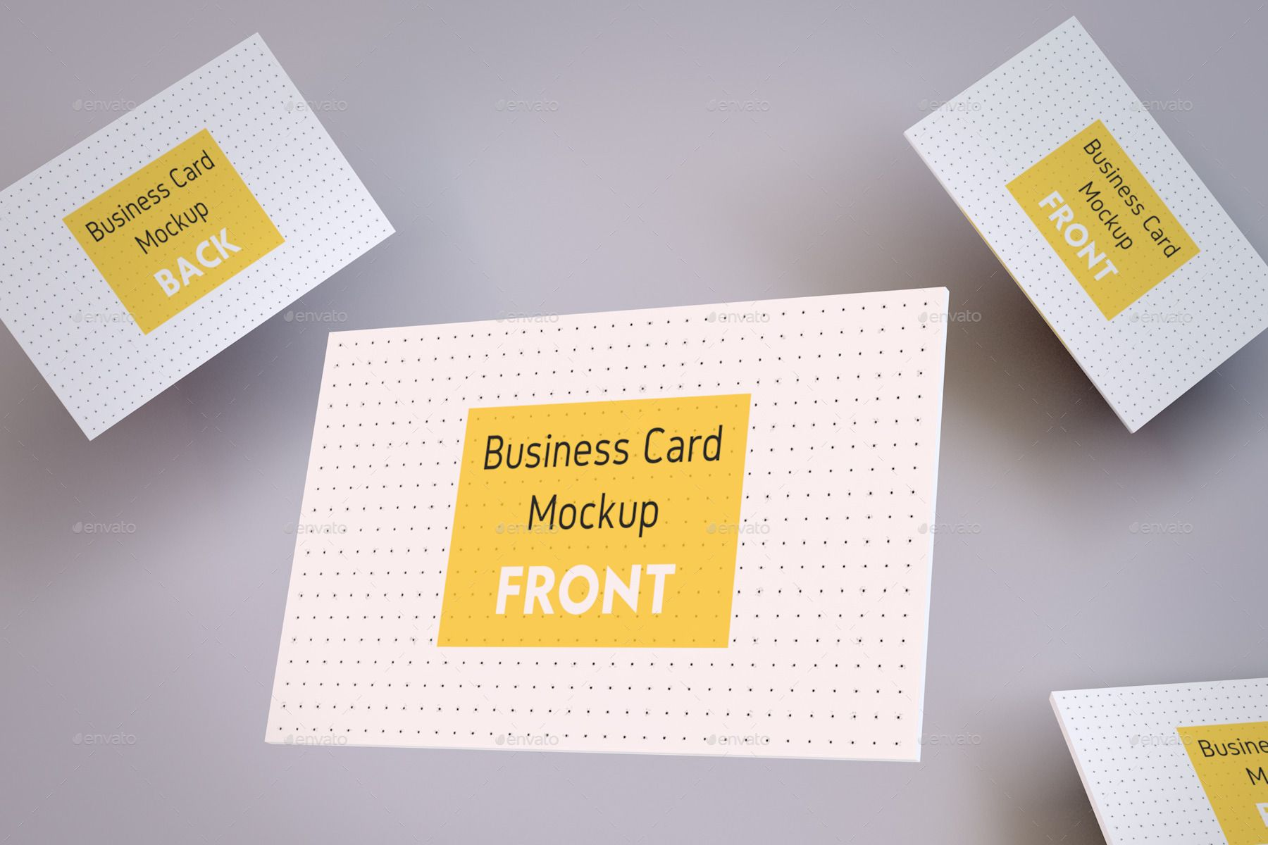 Realistic Business Card And A4 Paper Mockup Pack With Images