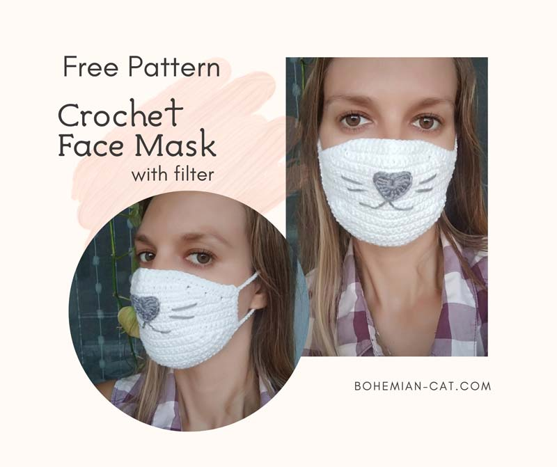 Photo of Crochet Face Mask with Filter | Free Pattern