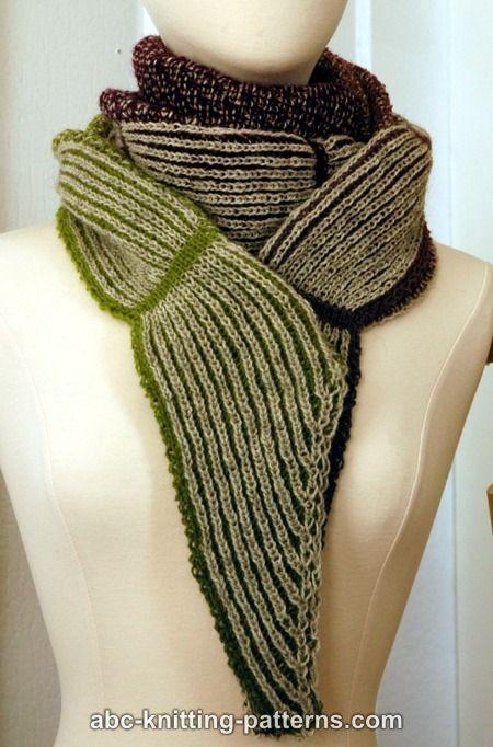ABC Knitting Patterns - La Riviera Shawl with Brioche Border ...