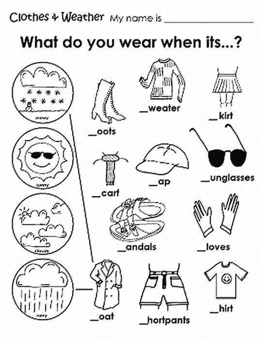 Clothes and weather | Language Skills | Pinterest