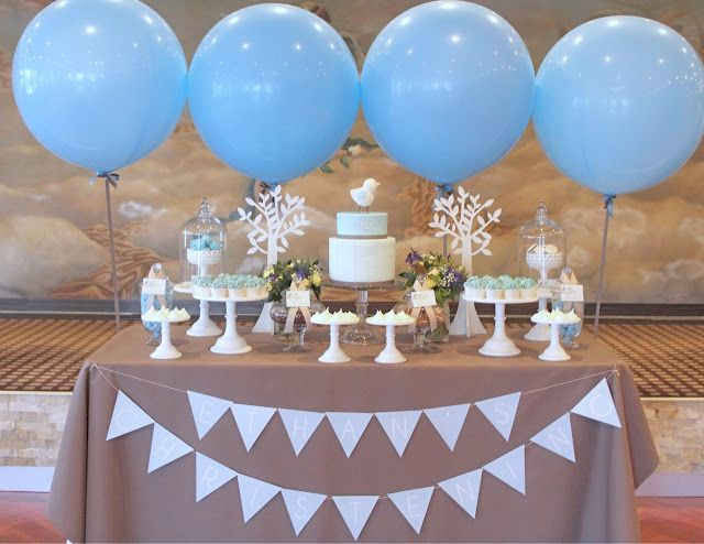 Boys Christening Table 1st Communion Baby Shower Decorations