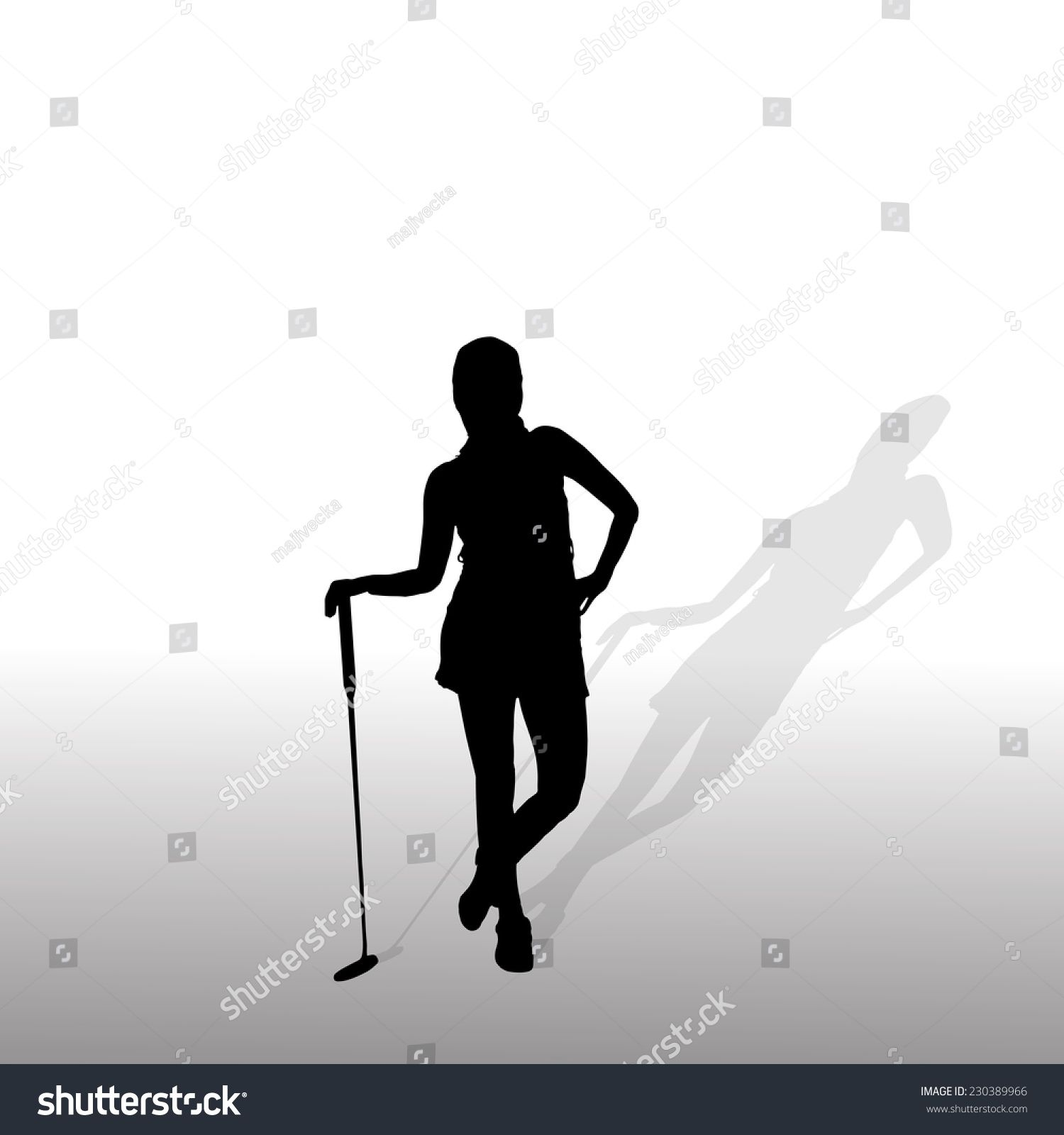 Vector Silhouette Of The Woman Who Plays Golf Ad Aff Silhouette Vector Woman Golf In 2020 Silhouette Play Golf Website Template