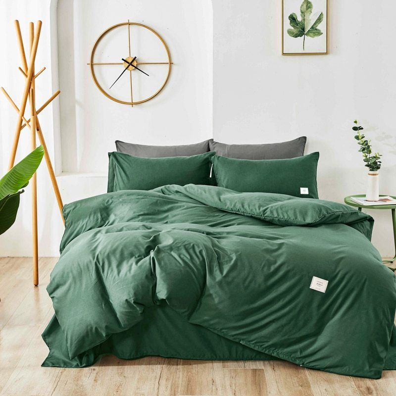 Home Textile Bedding Set Solid Color Duvet Cover Sets Quilt Covers Pillowcases European Size King Queen Gray Blue Pink Green Duvet Sets Duvet Duvet Cover Sets