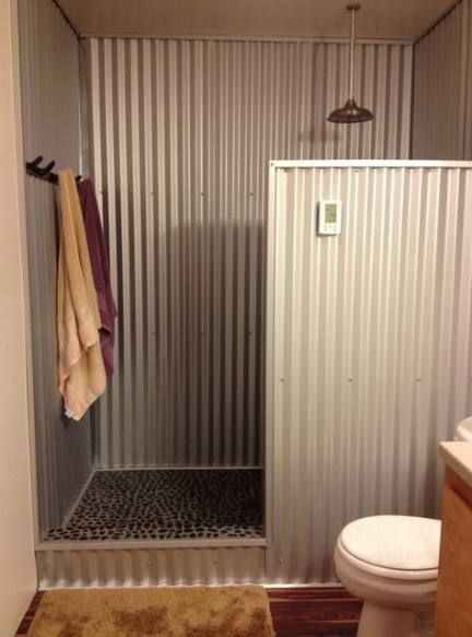 Bathroom Country Corrugated Metal 64+ Ideas - #badezimmeramaturen #Bathroom #Cor...,  #badezimmeramaturen #Bathroom #Cor #Corrugated #Country #diybathroomaccessories #ideas #Metal