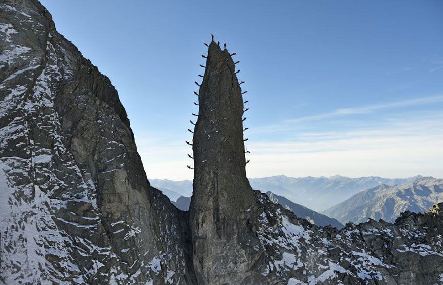 Hundreds Of Mountaineers Climb The Alps For Epic Photos