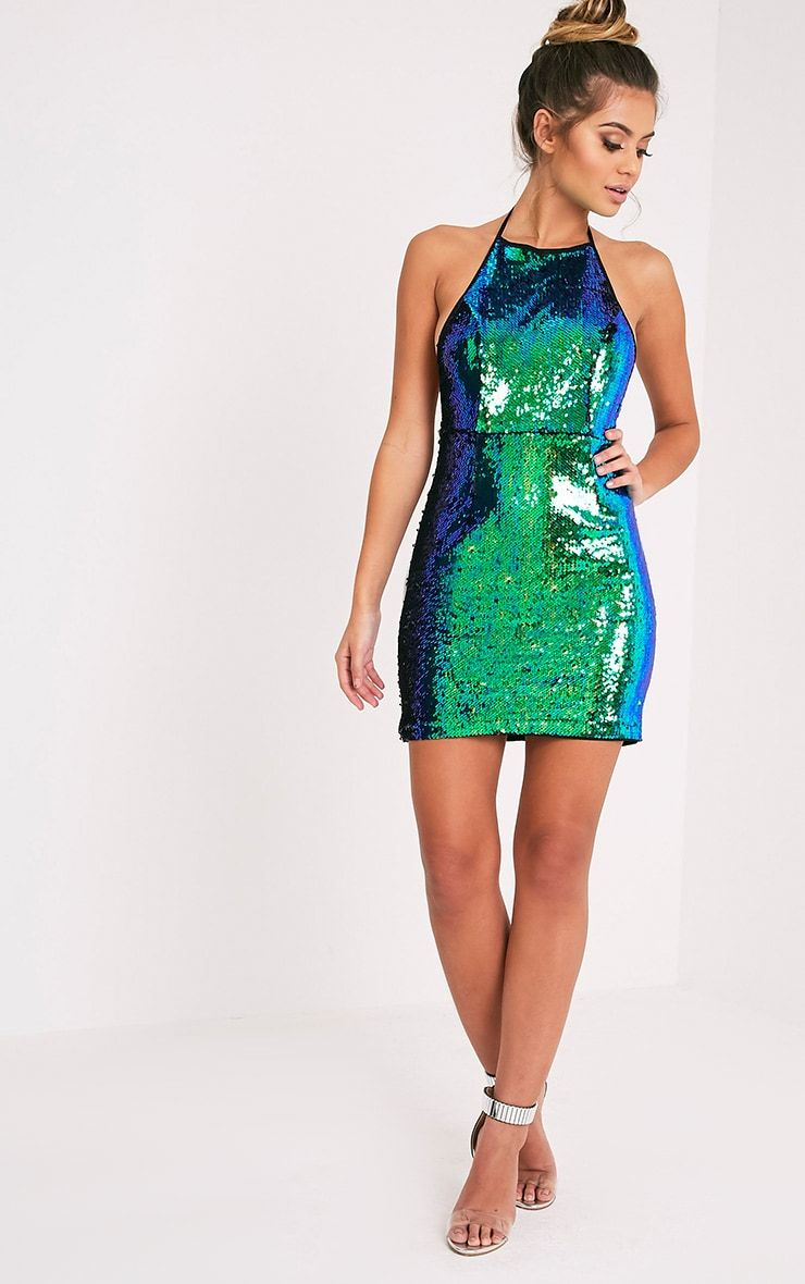Jeseme Green Sequin Front Bodycon Dress Pretty Little Thing Comfortable Cheap Online Clearance Find Great Drop Shipping Buy Cheap View YSUkyhj