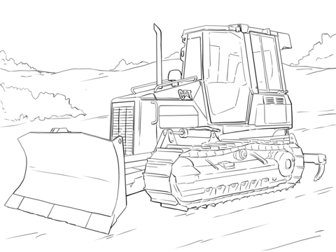 Caterpillar Bulldozer Coloring Page Free Printable Coloring Pages Coloring Pages Caterpillar Bulldozer Dragon Coloring Page