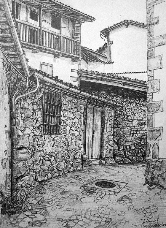 Calle De Candelario Ii Carboncillo Paisaje Paisajes Dibujos Dibujos Paisajes A Lapiz