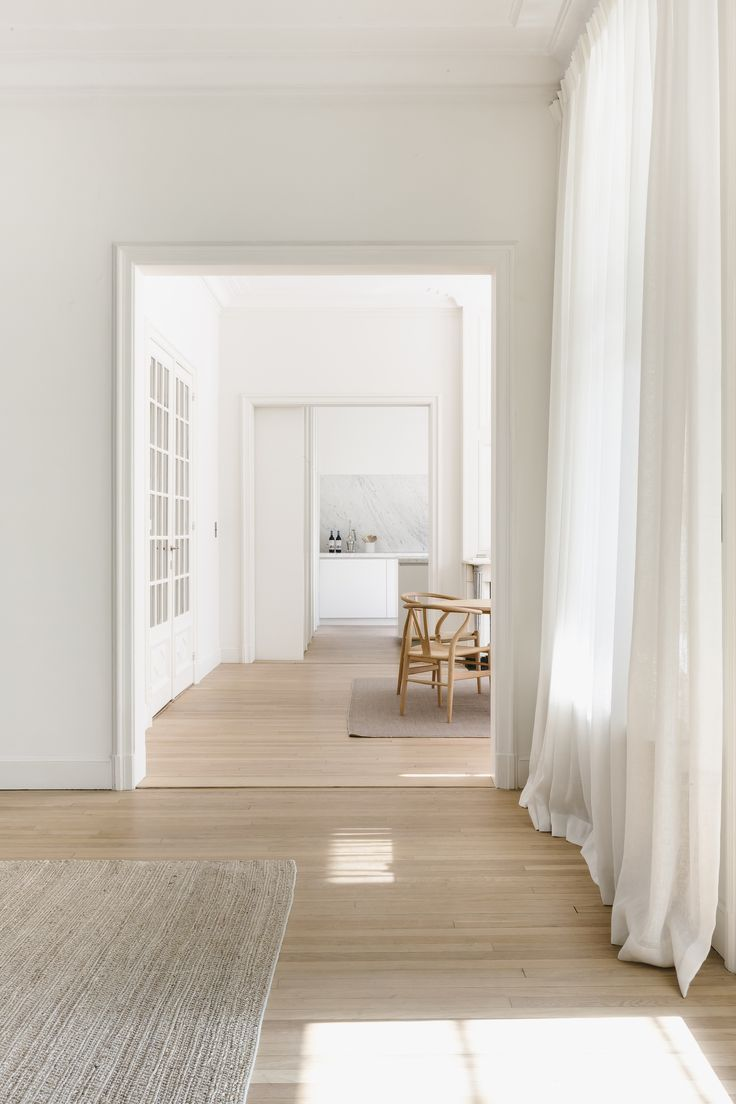 Minimalist White Living Space #homedecor #whitewalls #whitehome