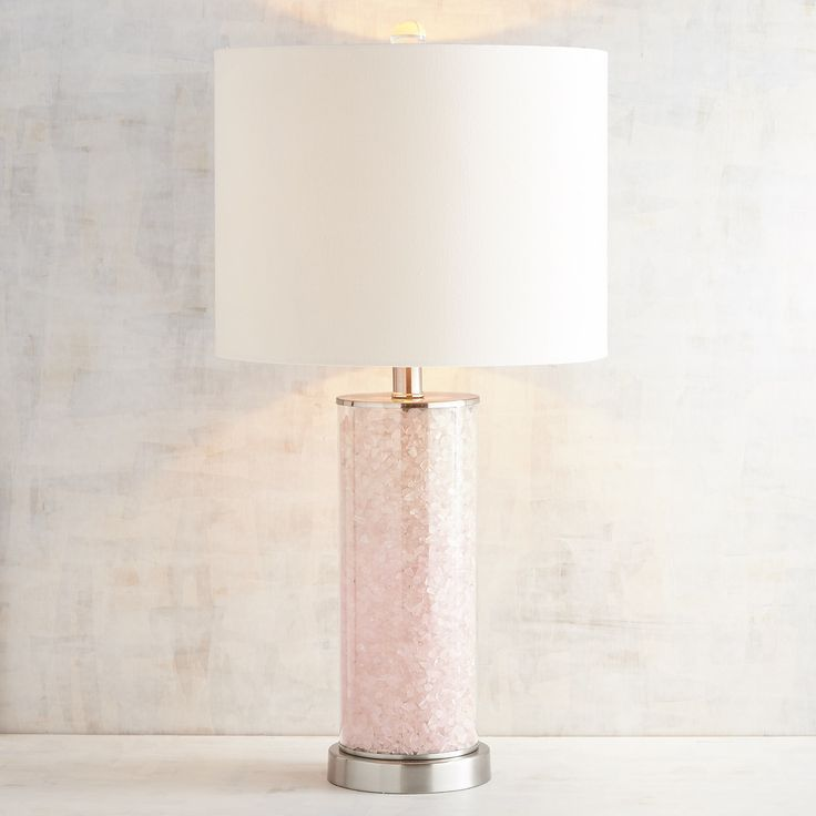 Pink Quartz Table Lamp