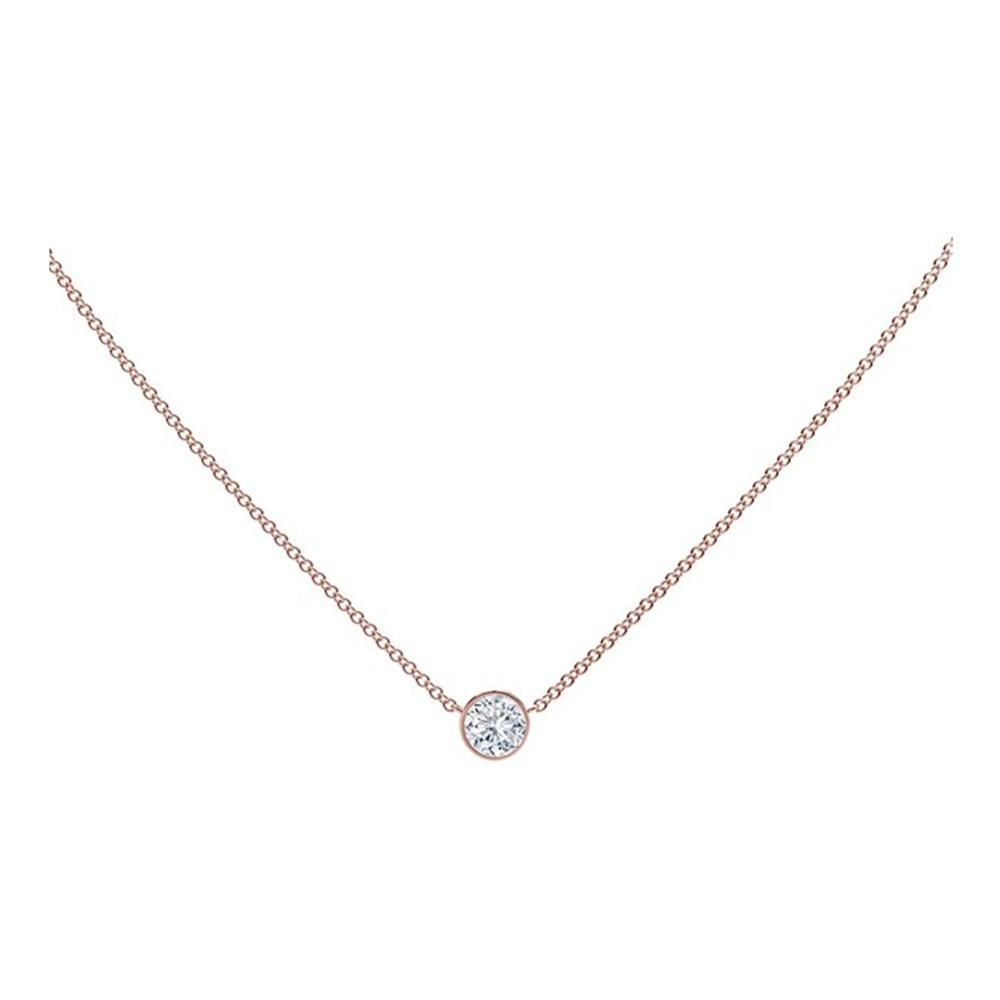 18K Rose Gold Forevermark Diamond Tribute Collection Diamond By The Yard Necklace