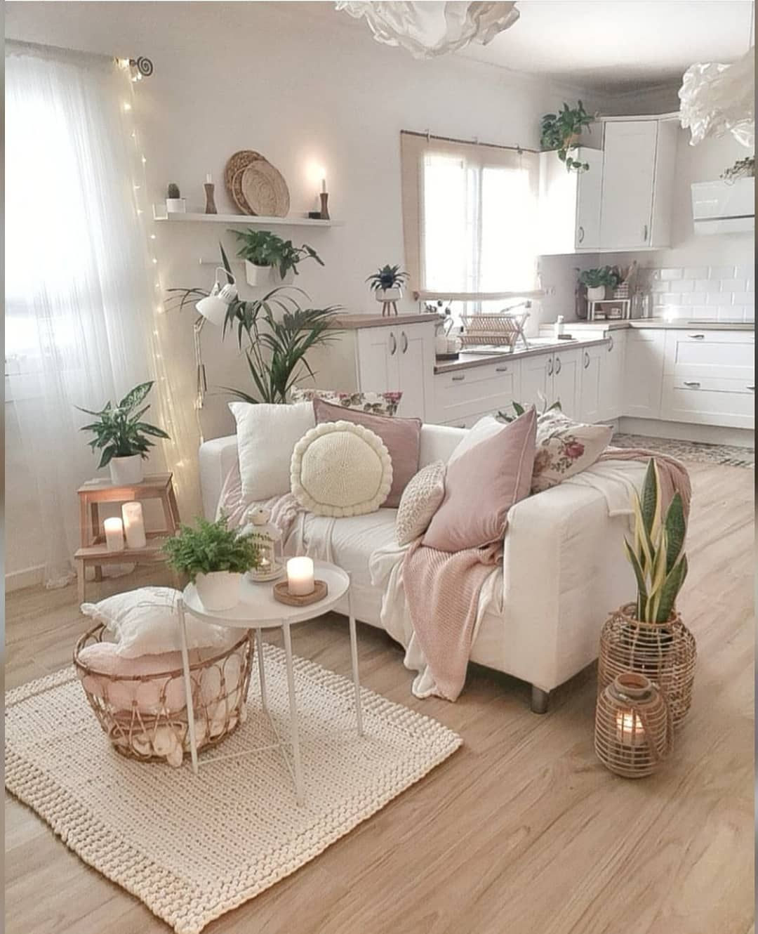Bohemian Inspirations On Instagram The Cutest And Cozy Living Room Kitchen Scene You Really Can Boho Living Room Living Room Designs Cozy Living Rooms