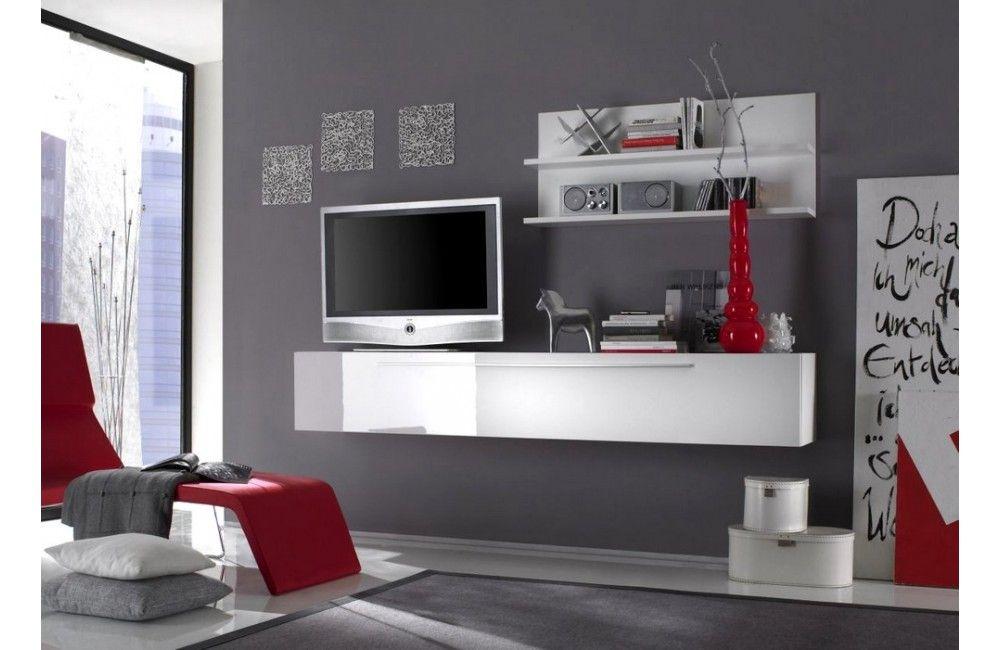 Delightful Meuble De Tv Mural #9: Table De Tv | Meuble Tv Mural Blanc