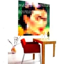 Kahlo Tafel  200 x 200 cm  act  Frida Kahlo Tafel  200 x 200 cm  act   Venus Pixel Bild Snow White Pixel Bild motleycraftorama Décoration murale pour la salle de s...