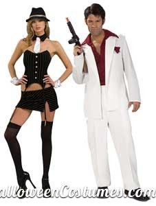 Scarface And Sexy Gangster Couples Costumes Halloween Costumes