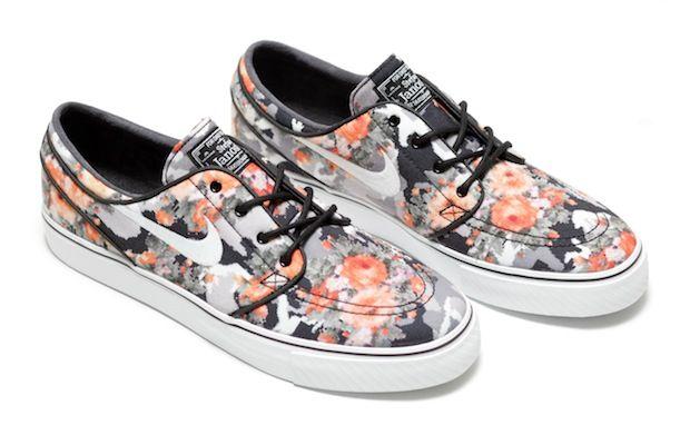 "323707b9710d4 Nike SB Zoom Stefan Janoski ""Digi Floral"" Multi-color Black-Mandarin  Release Date"