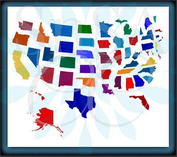 State SVG Map USA America Teacher Grade 1 2 Home Flag Divided ... on education maps of the united states, state of texas map of united states, county maps of the united states,