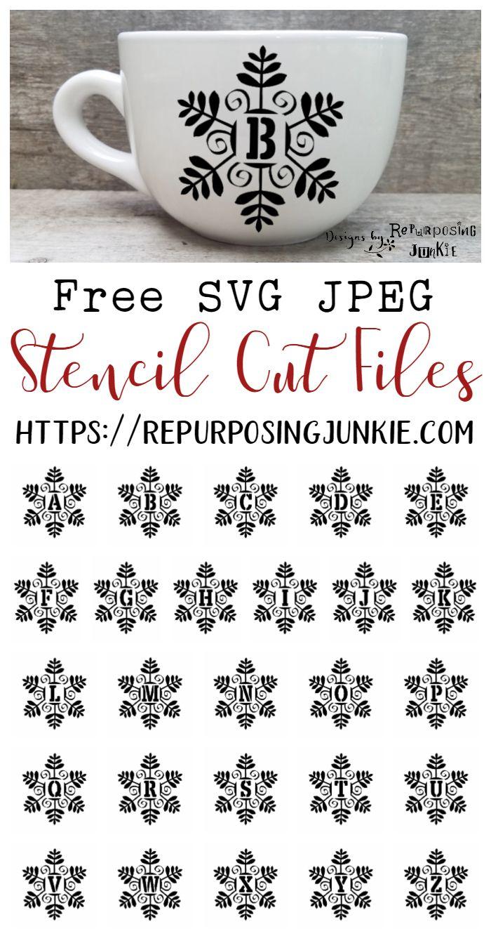Photo of Archivos de corte de plantilla de monograma inicial de SVG Snowman Snowflake gratis