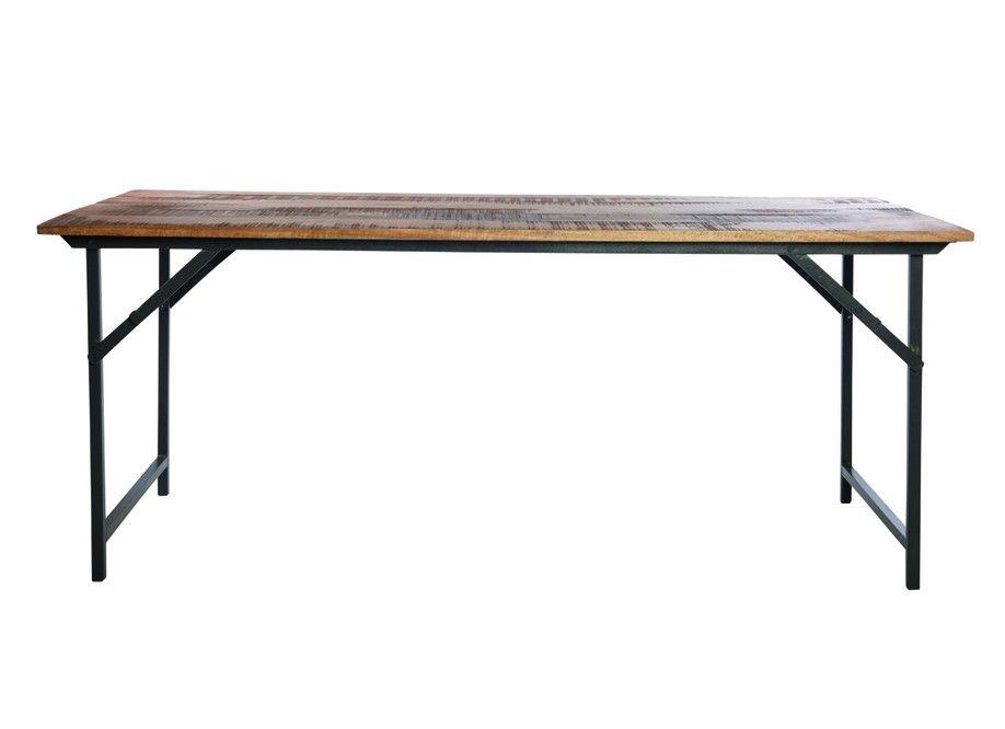 bois et metal http://www.factorychic/139-1290/table-bois