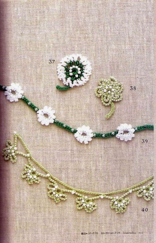 Beads work motif edging braid 100