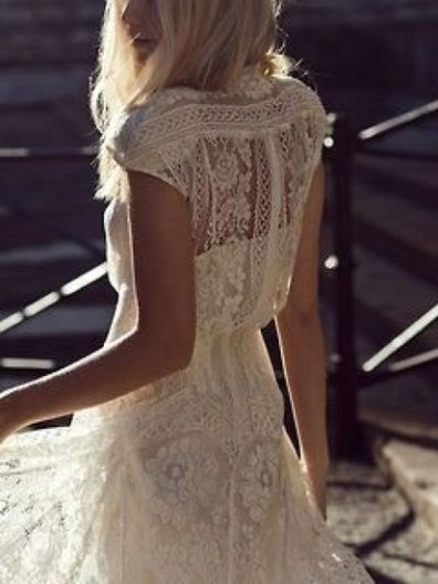 Boho lace pattern back