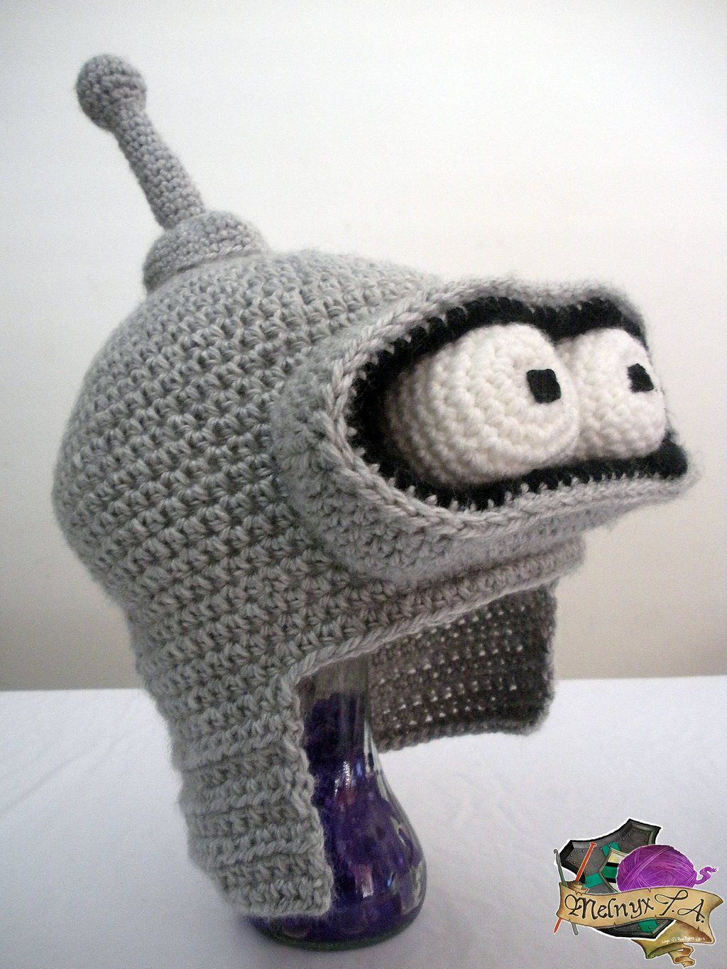 Crocheted Bender Hat by Melnyx - Futurama Crafts | Geek ...