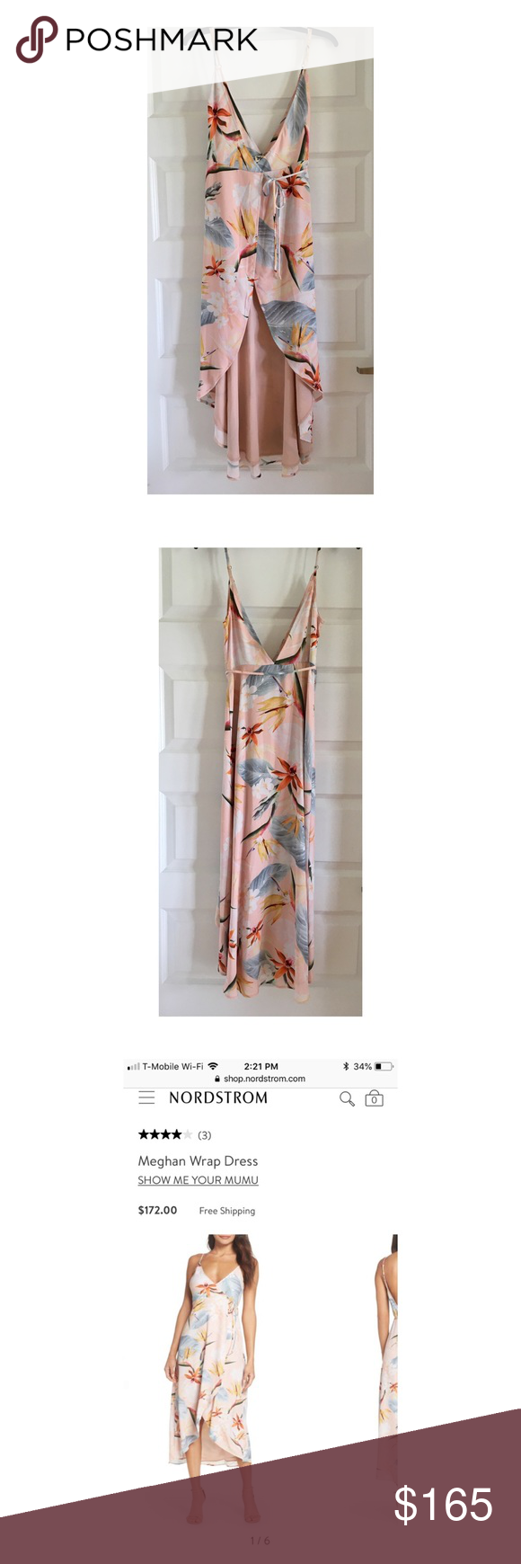 """727407c9d833 Meghan Wrap Dress in Paradise Party 🌺 ✨New✨ """"Show me your MuMu"""" wrap dress!  ✅ Never worn without tags ✅ Protective plastic dry cleaning bag included ..."""