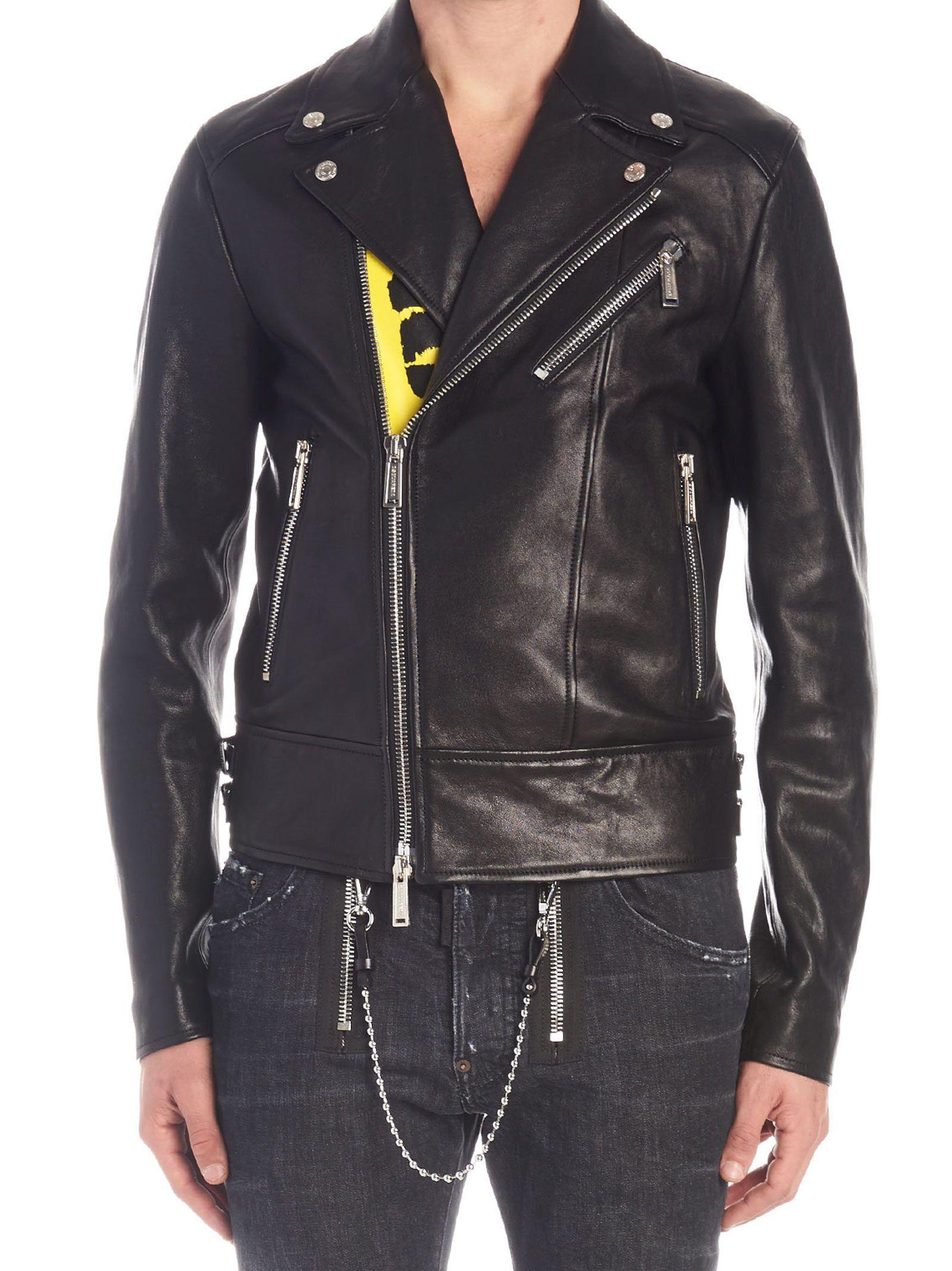 Dsquared2 Jacket Dsquared2 Cloth Leather Jacket Jackets Mens Luxury Fashion [ 2136 x 1600 Pixel ]