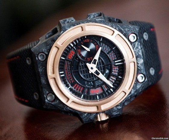 Linde Werdelin SpidoLite II Tech 44mm Forged Carbon 18k Rose Gold Special Edition 75 Pieces