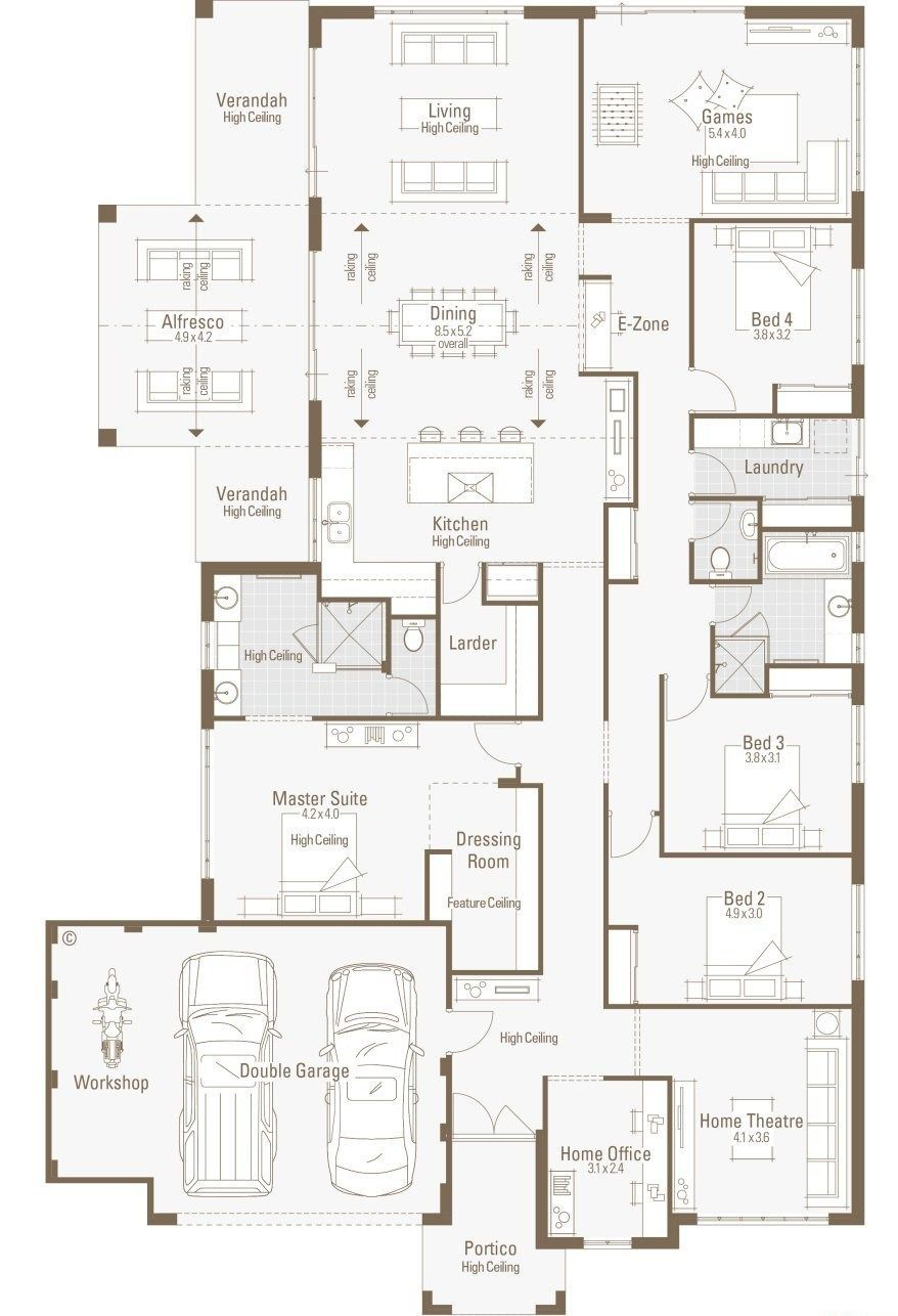 House Plans With Big Garage Large House Plans Home Design Floor Plans Garage House Plans