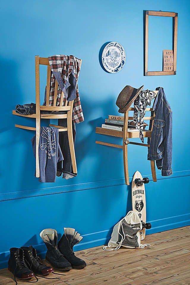 Upcycling Alte Stuhle Werden Zur Garderobe Diy Academy Garderobe Diy Alte Stuhle Diy Academy