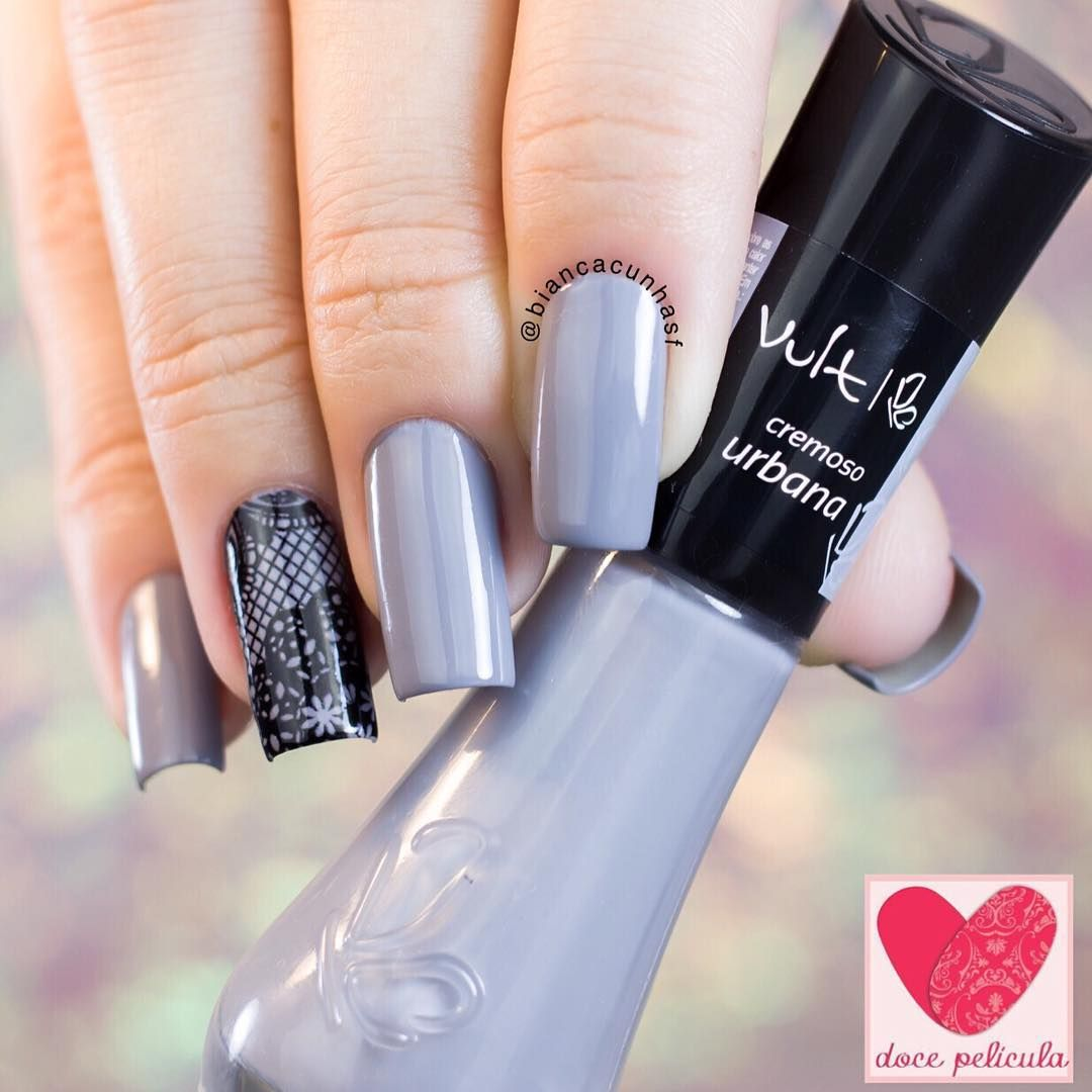 Pin de Violeta Cortes en grey nail polish | Pinterest | Esmalte ...