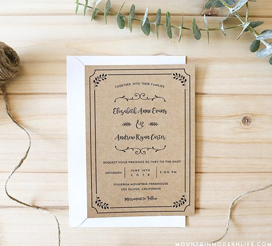 Planning a rustic wedding? Download this FREE Printable Wedding - wedding template
