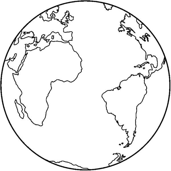 Earth Map Coloring Pages Free Printable For Rhpinterest: Coloring Pages For Earth At Baymontmadison.com
