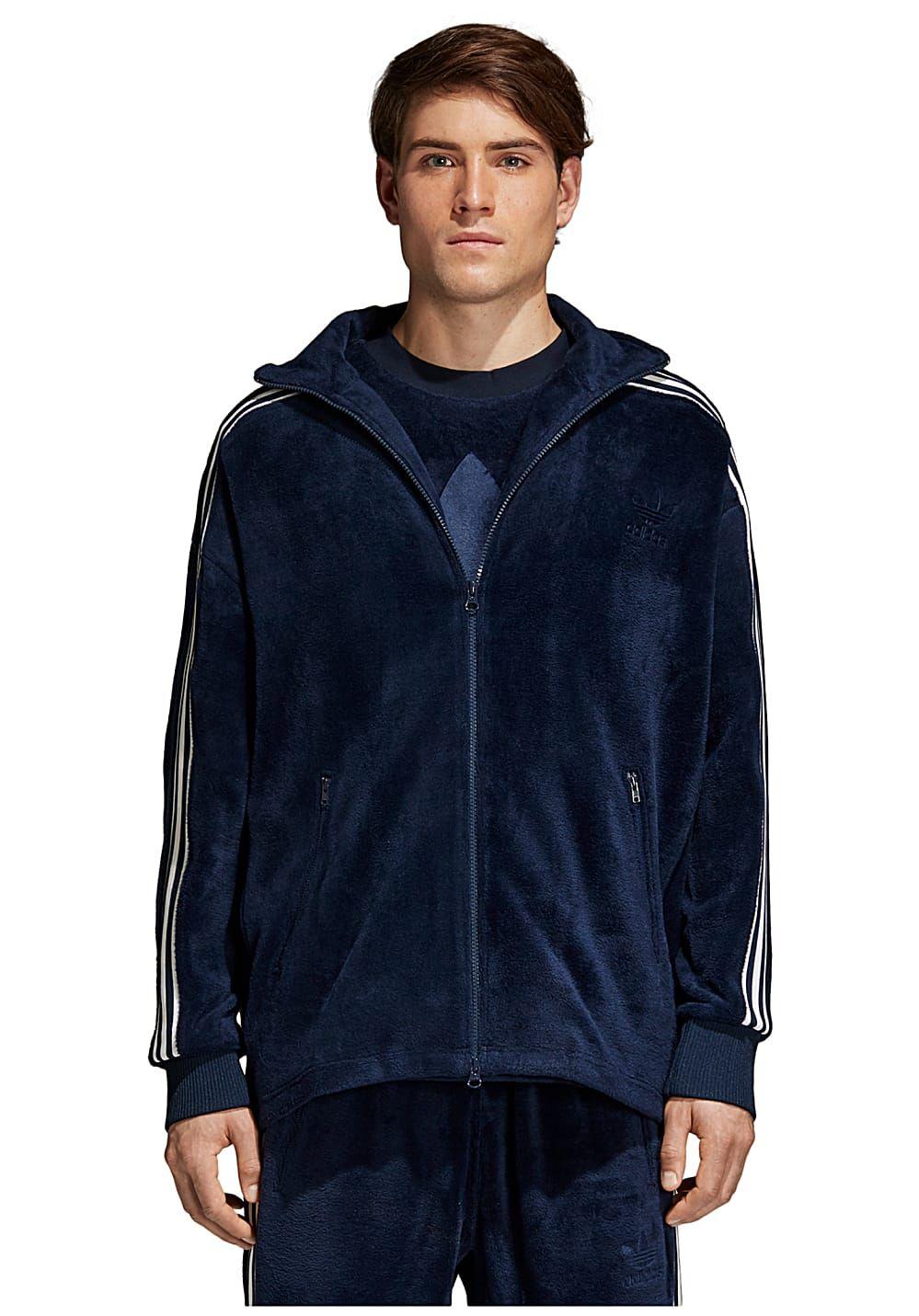 Homme Pour Adidas Survêtement Veste Bb Velour De Bleu WYUwqFgU