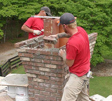 Chimney Rebuilding In Atlanta Masonry Work Near Alpharetta On New