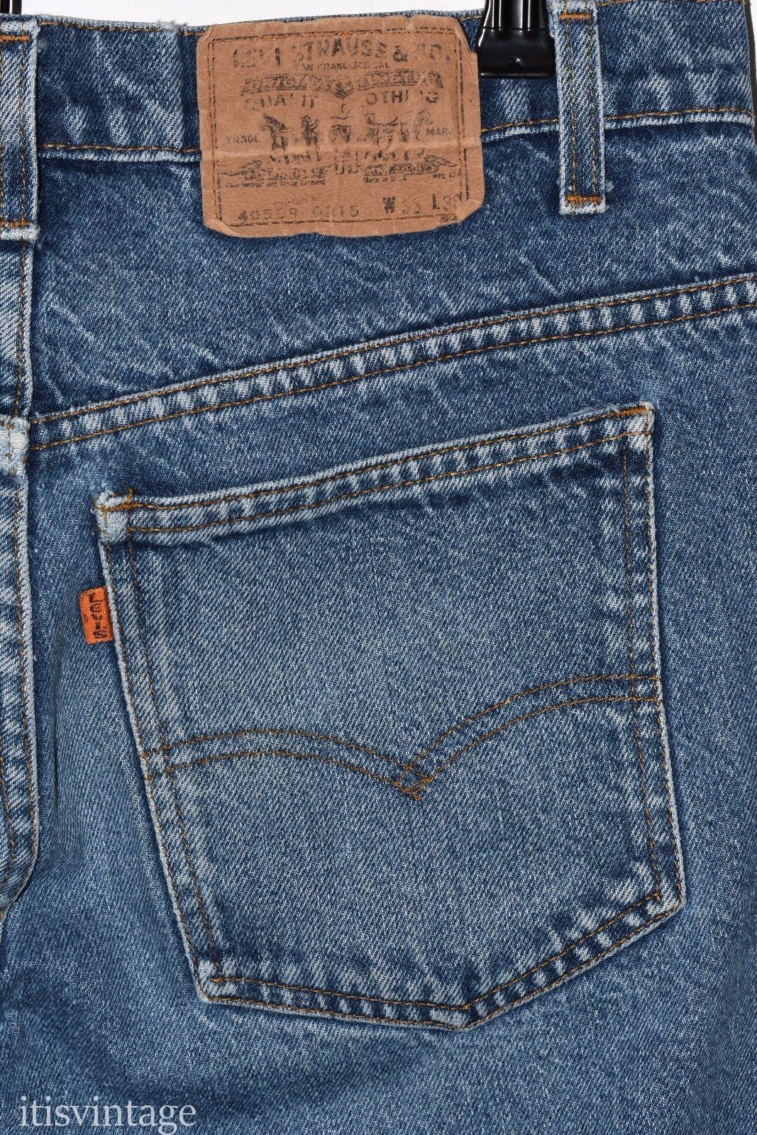 e76146db Vintage 80's Levi's 509 Straight Leg Relaxed Loose Talon 42 Zipper Orange  Tab Denim Jeans 34x28 | Clothing, Shoes & Accessories, Men's Clothing, ...