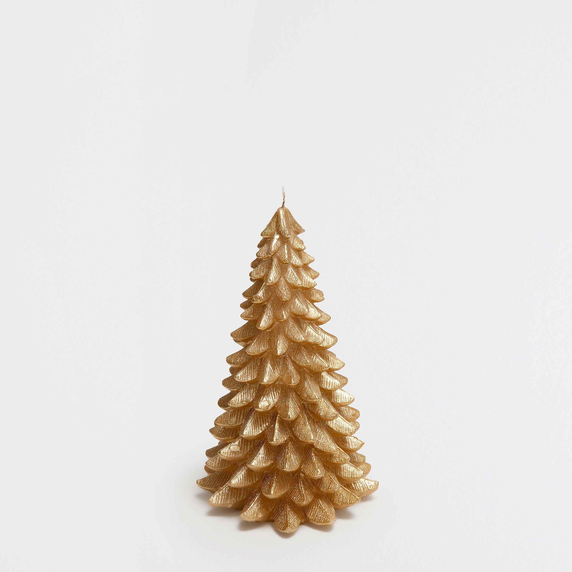 Large Fir Tree Shaped Golden Candle Collection Christmas Zara Home Canada Tree Shapes Fir Tree Candles