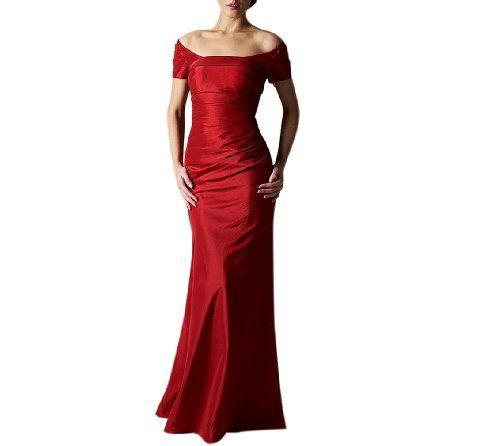 Dearta Womens Sheath//Column One-Shoulder Floor-Length Satin Bridesmaid Dresses
