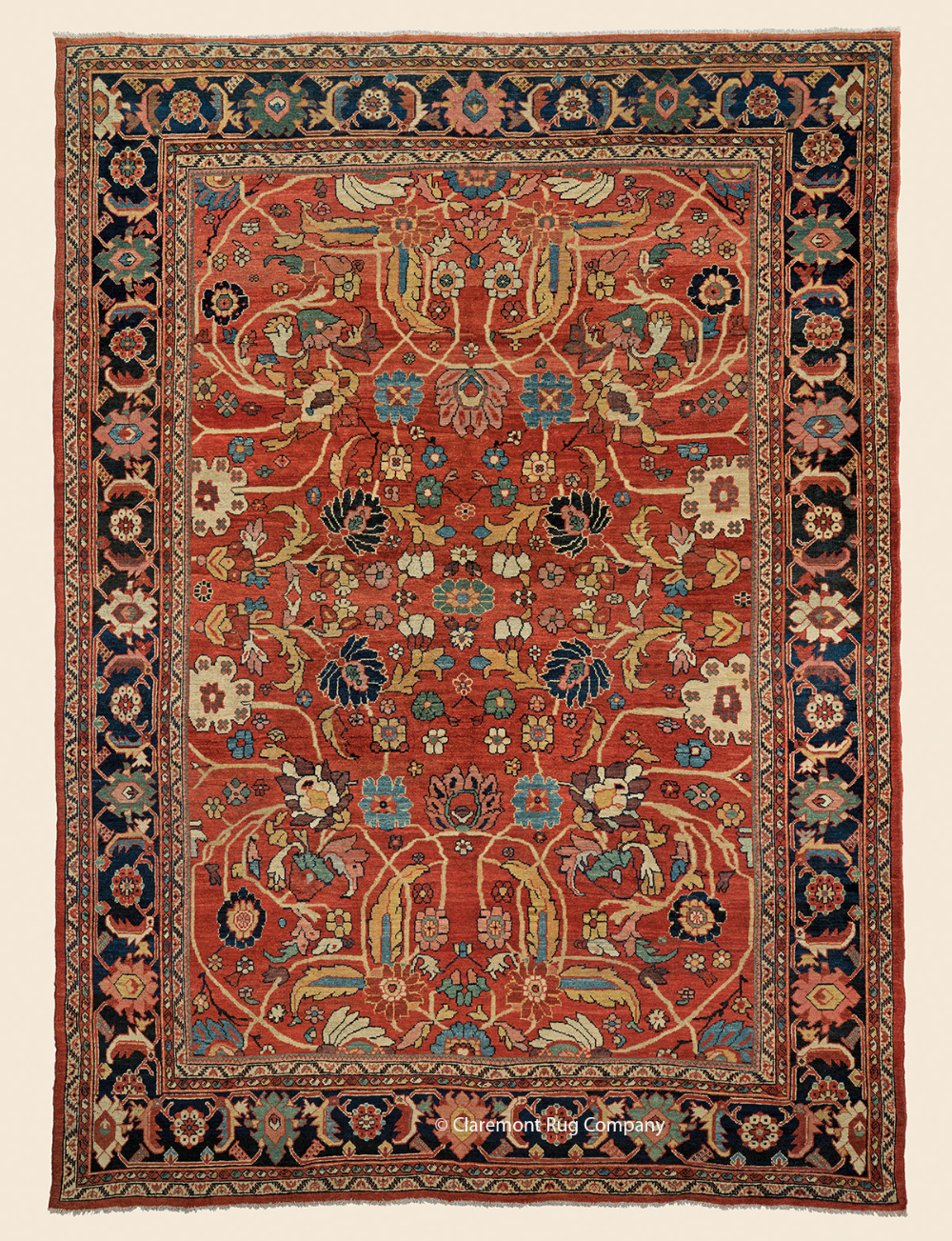 Antique West Central Persian Sultanabad Rug 9ft X 12ft In 2020 Sultanabad Rug Rugs Antique Rugs